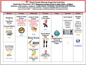 July- September Activities