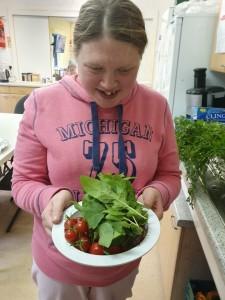 Maxine with salad
