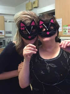 Melissa and Tracy with masks