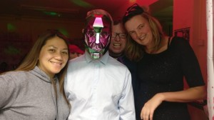 Melissa and metal mask man